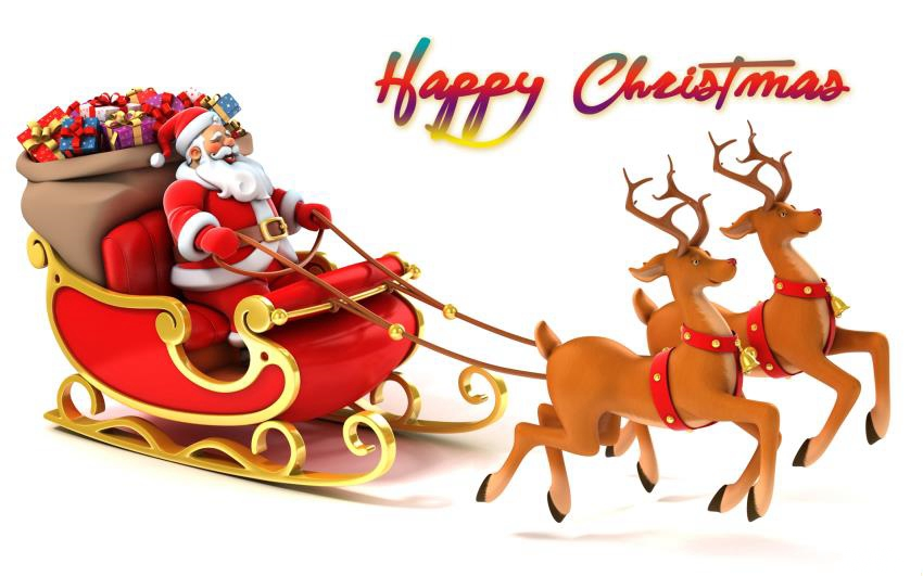 Best and unique merry christmas greetings with pictures of santa claus