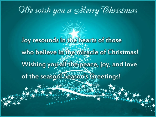 Best christmas card messages 2015