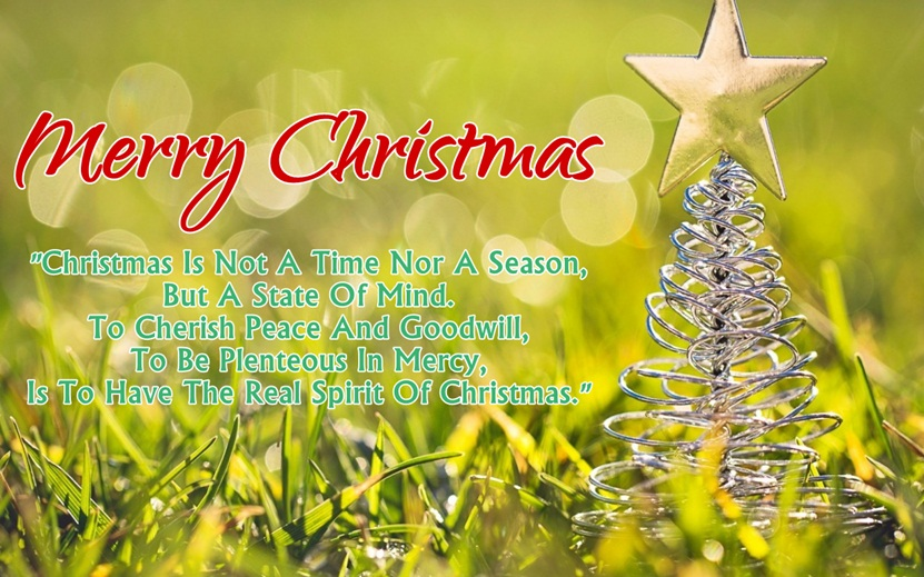 superb christmas greetings and thank you message