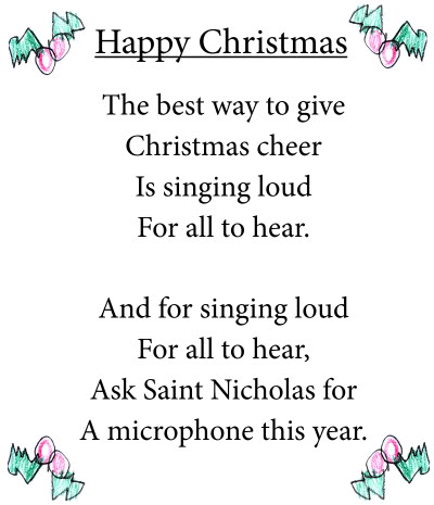 new christmas short poems